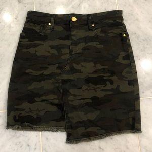 Camo Jean skirt